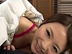 Sensual cock sucking in POV along gorgeous Mayuka Akimoto
