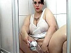 German BBW Samantha in the Shower HD