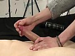 Gay male bondage sex video How Much Wanking Can He Take?
