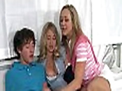 Erotic 3some with older babe