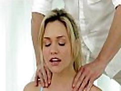 Gorgeous flexible model facialized after sex