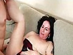 Hairy pussy babe gets big cock blowjob and fuck 15