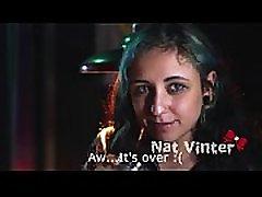 Nat Vinter drinks cum from a glass
