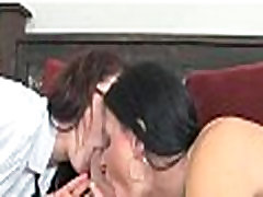 Mom and daughter tag team cock 269