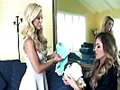 Horny babes Cherie DeVille and Randy Moore in hot lesbian sex action