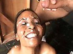 Hot ebony chick love gangbang interracial 20