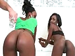 Sexy Black Girl With Round Ass Ass Fucks A White Guy