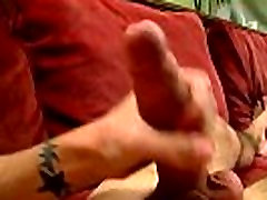 Gay clip of Brady strokes every inch of his pipe while playing with