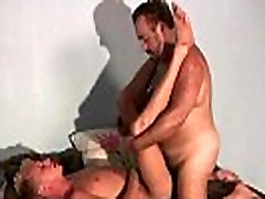 Blond guy is fucked by gay bear gay video
