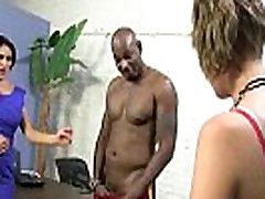 Horny MILF fucks young black stud 26