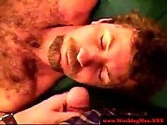 Hairy straight redneck gets facial