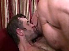 Gay bears cum vigorously