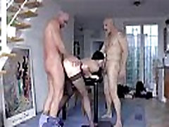 Anal fucking for mature British lady in threesome