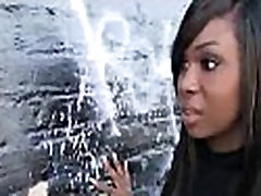 Black slut used for blowjobs by a group of white men 25