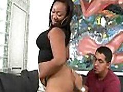 Ebony babe shaking her big booty and fucking