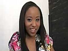 Hot ebony chick love gangbang interracial 21