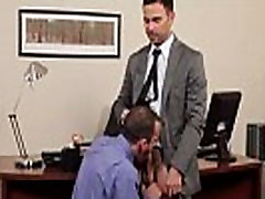 Gay office jock getting throatfucked