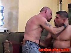 Hardcore muscle gay bear pounding
