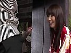 Super hot Asian model Marica takes rough anal fuck by Chapmans big black cock