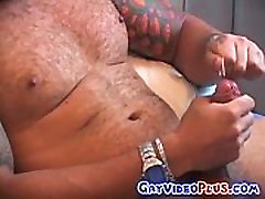 Horny hunk in hot solo jerking