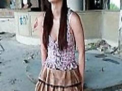 Good looking real asian model posing her