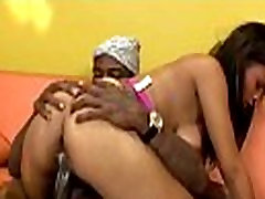Light skinned sista rides meaty ebony schlong in black porn parody