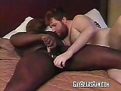 Black hunk doing a big gay bear