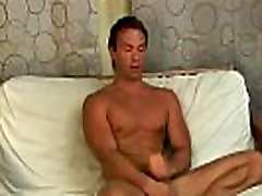 Hunk with muscles jerks off his hard dick