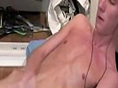 British twink frantically tugs his cock