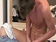 British twink pulls his cock to the beat
