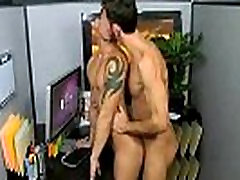 Hunk gives up his ass to his mature big cock boss