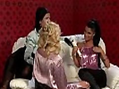 Glamorous lesbian threesome babes