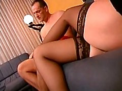 Blonde in black stockings 1