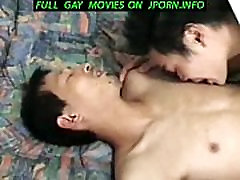 2 horny twinks fucking a straight Japanese business man