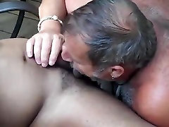 Sucking cum out of young black stud