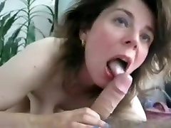 My ex cheated on me, so to get back on her I posted this amateur pov blowjob video. This milf is delighted having a dick in her mouth.