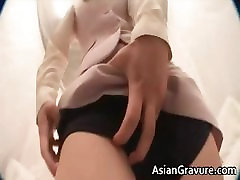 Sexy asian lady takes cock up the tight part2