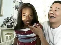 AMBW Lady Armani interracial with Oriental boy