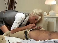 Mom xxx: Blonde busty MILF has multiple orgasms