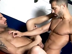 Sporty And Horny Gay Bears Fucking In Their Locker Room