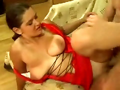 Tanned Big Tits Russian Milf enjoy a hard young dick