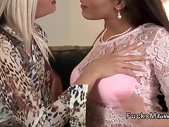 Gorgeous milf lesbians fingering and licking
