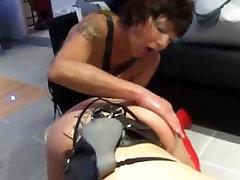 Big booty sluts in kinky BDSM FFM threesome