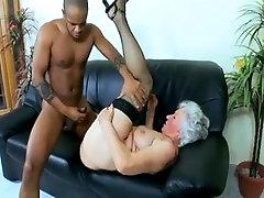Horny Granny Patient seduces a Black Doctor