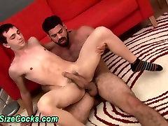 Bears big dick cums on twink