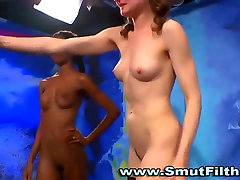 Black fetish slut licks pussy