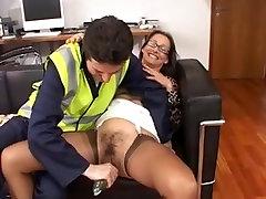 British Slut Carla in Brown FF Stockings