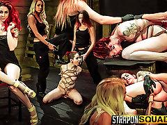 Rope Suspension BDSM Fun for Sheena Rose with Mila Blaze & Alexa Rydell