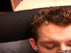 Twink punk fingers his ass and masturbates