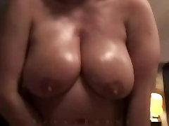 Milf With Heavy Hangers Masturbates